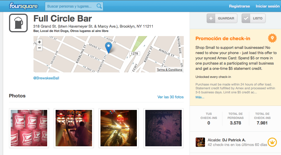 Foursquare Full Circle Bar
