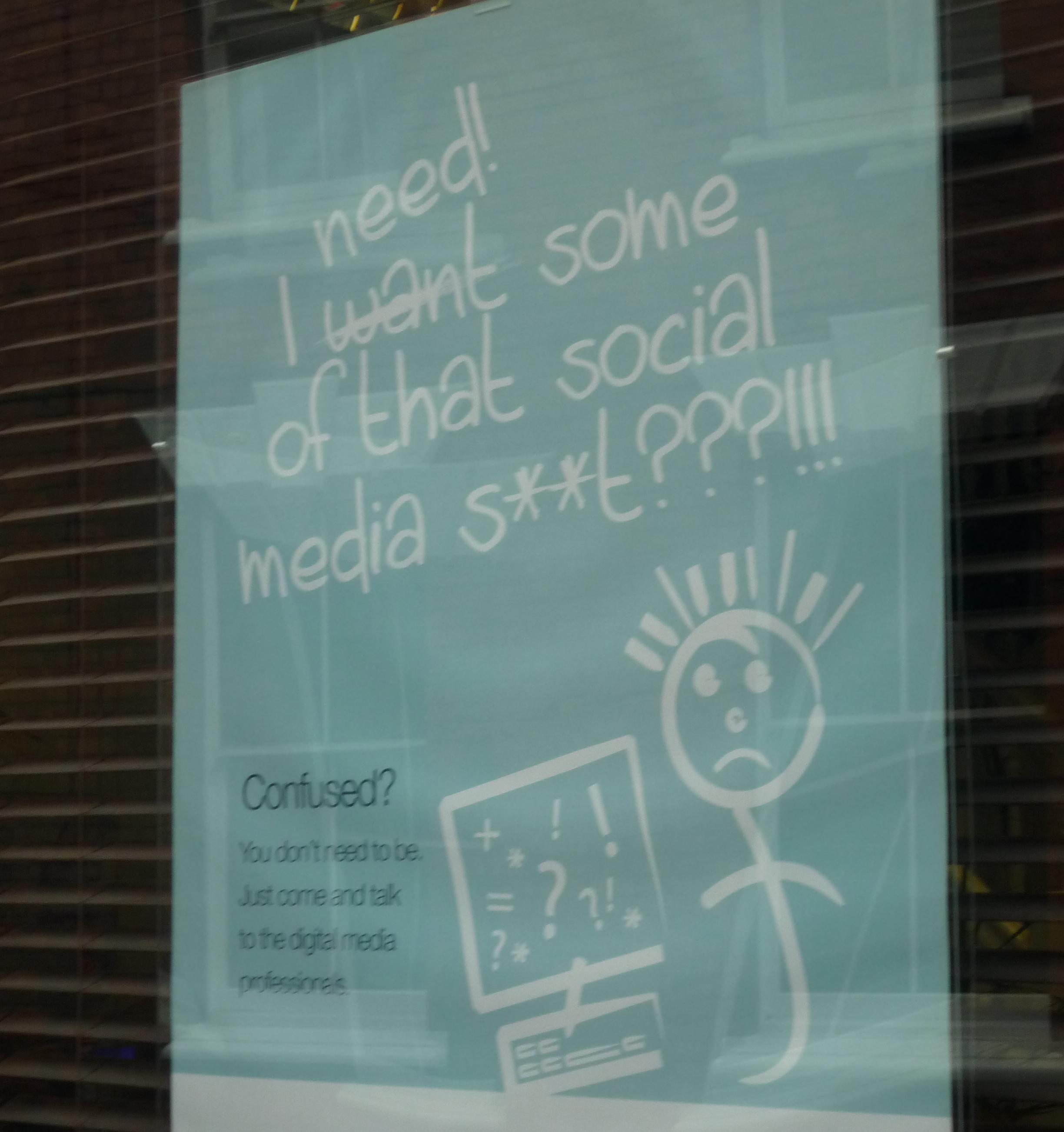 social media en la calle